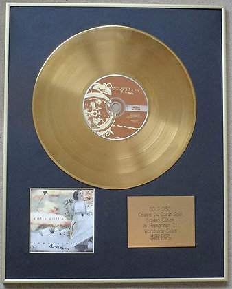 PATTI GRIFFIN - Exclusive Limited Edition 24 Carat Gold Disc - IMPOSSIBLE DREAM