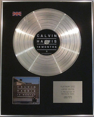 CALVIN HARRIS - Limited Edition CD  Platinum Disc - 18 MONTHS