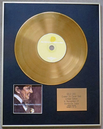 PERRY COMO - Exclusive Limited Edition 24 Carat Gold Disc - THE BEST OF