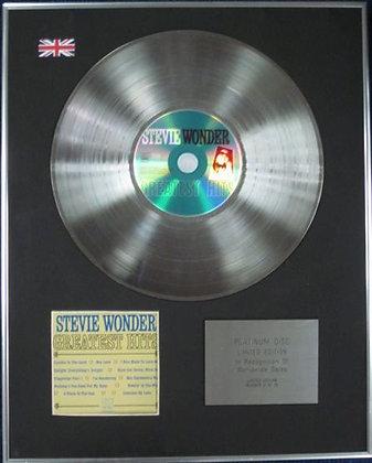 STEVIE WONDER - Ltd Edition CD Platinum Disc - GREATEST HITS
