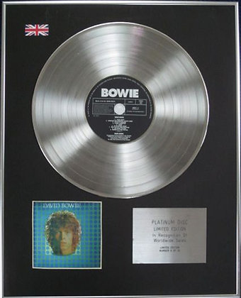 DAVID BOWIE - Limited Edition CD Platinum Disc - DAVID BOWIE(SPACE ODDITY)
