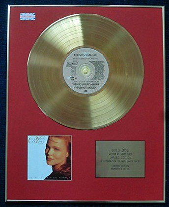 Belinda Carlisle - Limited Edition CD 24 Carat Gold Coated LP Disc - Best of