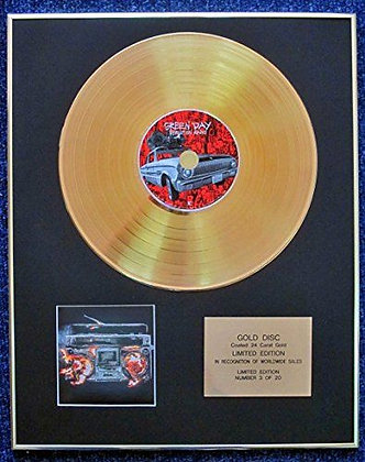 Greenday - Limited Edition CD 24 Carat Gold Coated LP Disc - Revolution Radio