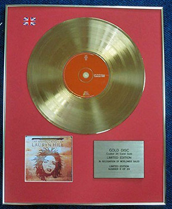 Lauryn Hill - Limited Edition CD 24 Carat Gold Coated LP Disc - The miseducation