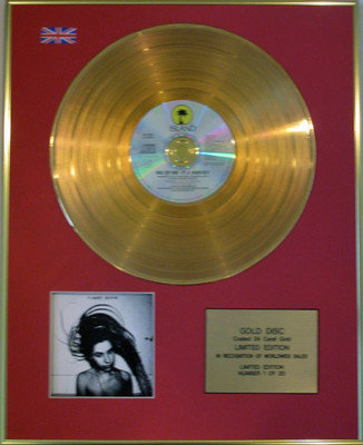 P J HARVEY - Limited Edition 24 Carat Gold Disc CD - RID OF ME