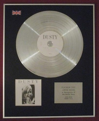 DUSTY SPRINGFIELD - Platinum Disc - THE VERY BEST OF DUSTY