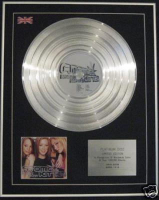 ATOMIC KITTEN  Ltd Edition CD Platinum Disc - RIGHT NOW