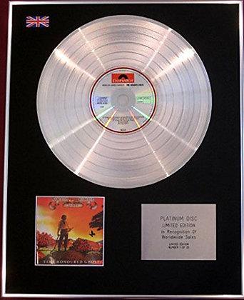 BARCLAY JAMES HARVEST -  Platinum Disc - TIME HONOURED GHOSTS