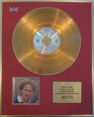 ART GARFUNKEL - Limited Edition 24 Carat CD Gold Disc - ANGEL CLARE
