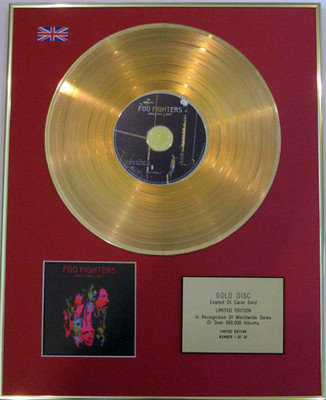 FOO FIGHTERS- Limited Edition 24 Carat CD Gold Disc - WASTING LIGHT