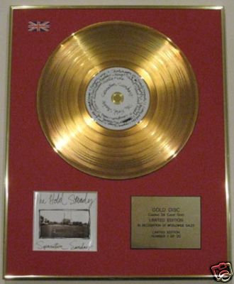 THE HOLD STEADY-CD 24 Carat Gold Disc-SEPERATION SUNDAY