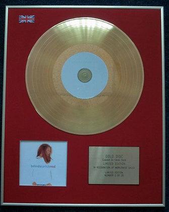 BELINDA CARLISLE - Limited Edition CD 24 Carat Gold Coated LP Disc - REAL