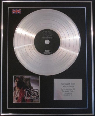 NAS - CD Platinum Disc- GREATEST HITS
