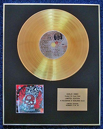 Dead Daises - Limited Edition CD 24 Carat Gold Coated LP Disc - Live & Louder