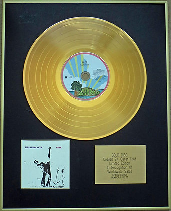 FREE - Exclusive Limited Edition 24 Carat Gold Disc - HEARTBREAKER