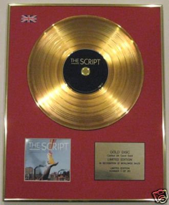 THE SCRIPT - Limited Edition 24 Carat CD Gold Disc - THE SCRIPT 2