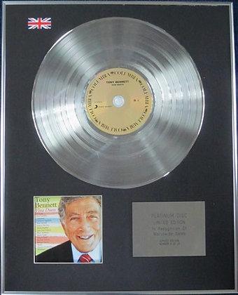 TONY BENNETT - Limited Edition CD Platinum Disc - DIVA DUETS