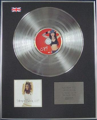 SHANIA TWAIN - Limited Edition CD Platinum Disc - UP