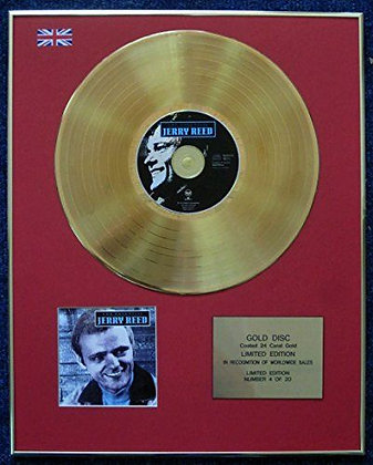 Jerry Reed - Limited Edition CD 24 Carat Gold Coated LP Disc - The Essential