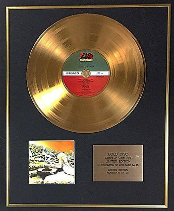 Led Zeppelin - Exclusive Limited Edition 24 Carat Gold Disc - Houses Of The Holy