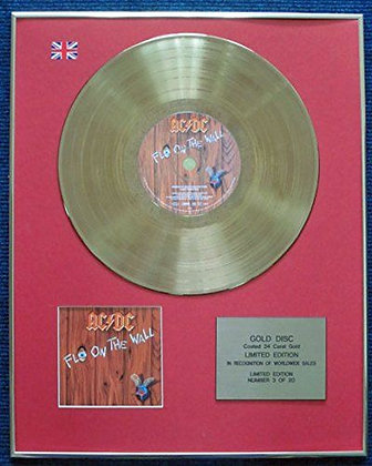 AC/DC - Limited Edition CD 24 Carat Gold Coated LP Disc - Fly on the Wall