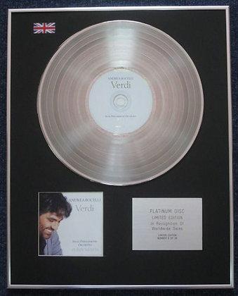 Andrea Bocelli - Limited Edition CD Platinum LP Disc - Verdi