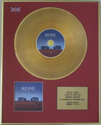 KEANE - Limited Edition 24 Carat CD Gold Disc - STRANGELAND