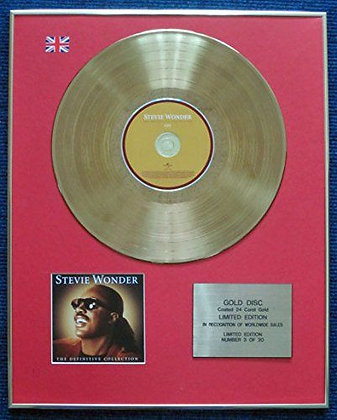 Stevie Wonder - Limited Edition CD 24 Carat Gold Coated LP Disc -The Definitive