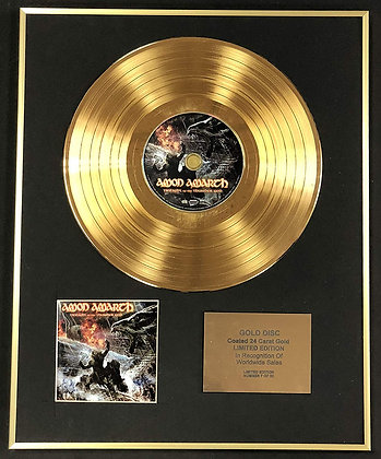 Amon Amarth - Exclusive Limited Edition 24 Carat Gold Disc - Twilight Of…