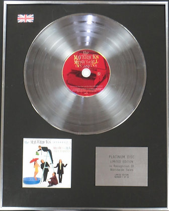 THE MAVERICKS - Limited Edition CD Platinum Disc - MUSIC FOR ALL OCCASIONS
