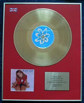 Britney Spears - CD 24 Carat Gold Coated LP Disc - Hit Me Baby?