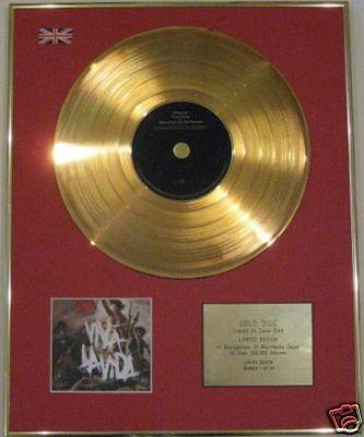 COLDPLAY - Ltd Edition CD Gold Disc - VIVALA VIDA
