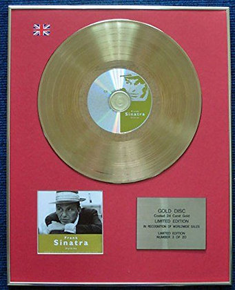 Frank Sinatra - Limited Edition CD 24 Carat Gold Coated LP Disc - 20 of the best