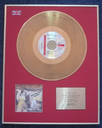 BOB DYLAN - Limited Edition CD 24 Carat Gold Coated LP Disc - KNOCKED OUT LOADED