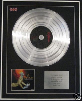 TRIVIUM  - Ltd Edition CD Platinum Disc - ASCENDANCE