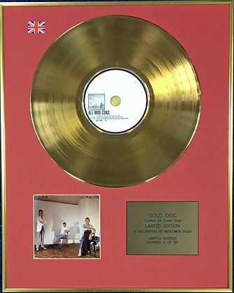 THE JAM - Ltd Edition CD 24 Carat Coated Gold Disc - ALL MOD CONS