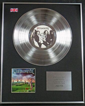 MEGADETH - Limited Edition CD Platinum LP Disc - YOUTHANASIA