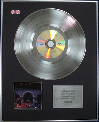 RUSH - Limited Edition CD Platinum Disc - MOVING PICTURES