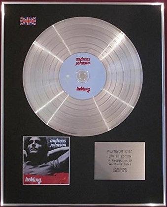 ANDREAS JOHNSON - CD  Platinum Disc - LIEBLING
