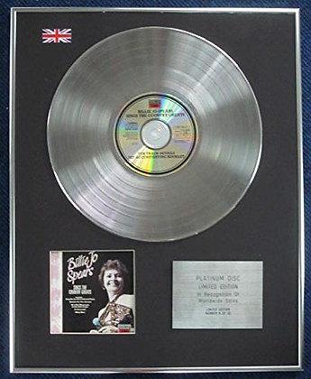 Billie Joe Spears - LTD Edition CD Platinum LP Disc - Sings the?