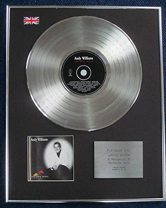Andy Williams - Limited Edition CD Platinum LP Disc -The Love Songs