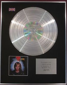 TOM PETTY & THE HEARTBREAKERS  Ltd Edition CD Platinum Disc - 'TOM PETTY'