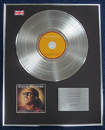 Stevie Wonder- Limited Edition CD Platinum LP Disc - The Definitive Collection