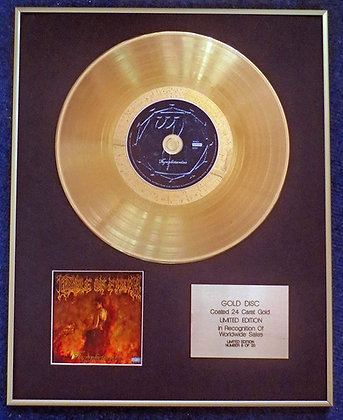 Cradle of Filth - Exclusive Limited Edition 24 Carat Gold Disc - Nymphetamine
