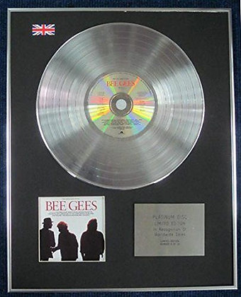 BEE GEES - Limited Edition CD Platinum LP Disc - THE VERY BEST OF