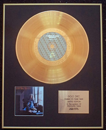 Carol King - Exclusive Limited Edition 24 Carat Gold Disc - Tapestry