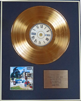 OASIS - Limited Edition CD 24 Carat Gold Coated LP Disc -BE HERE NOW