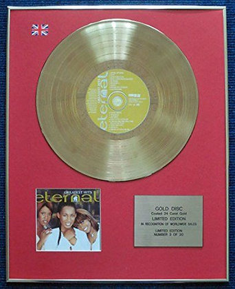Eternal - Limited Edition CD 24 Carat Gold Coated LP Disc - Greatest Hits