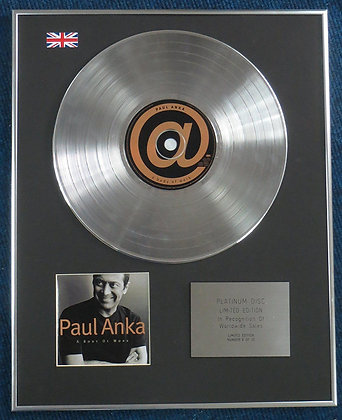PAUL ANKA - Limited Edition CD Platinum LP Disc - A BODY OF WORK