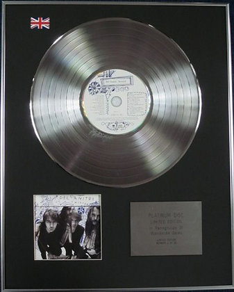 DEL AMITRI - Limited Edition CD Platinum Disc - TWISTED
